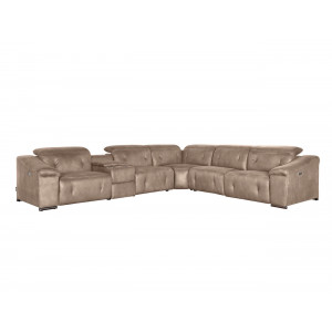 Allegra Electric Motion Lounge Suite Beige
